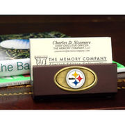 Pittsburgh Steelers Wooden Business Card Holder