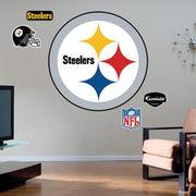 Pittsburgh Steelers Team Logo Fathead Wall Sticker