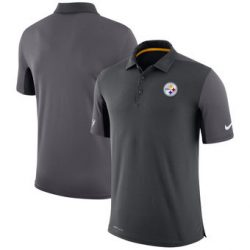 Pittsburgh Steelers Nike Team Issue Logo Performance Charcoal Polo