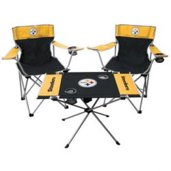 Pittsburgh Steelers Tailgate and Chair Table Set