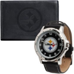 Pittsburgh Steelers Wallet and Watch Set
