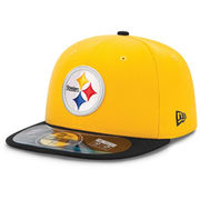 New Era Pittsburgh Steelers On Field Classic 59FIFTY Football Structured Fitted Hat