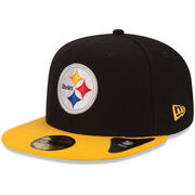 New Era Pittsburgh Steelers Two-Tone 59FIFTY Fitted Hat - Black/Gold