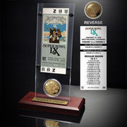 Pittsburgh Steelers Super Bowl IX Ticket and Game Coin Acrylic Display