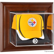 Pittsburgh Steelers Fanatics Authentic Brown Framed Wall-Mountable Baseball Cap Display Case