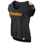 Nike Pittsburgh Steelers Womens Fashion Jersey V-Neck Top - Black
