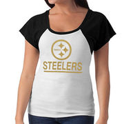'47 Brand Pittsburgh Steelers Women's Big Time T-Shirt - White/Black