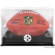 Pittsburgh Steelers Fanatics Authentic Black Base Football Logo Display Case with Mirror Back