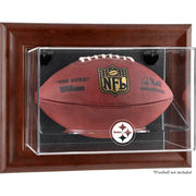 Pittsburgh Steelers Fanatics Authentic Brown Framed Wall-Mountable Football Display Case