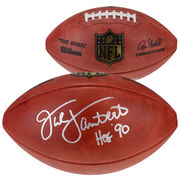 Jack Lambert Pittsburgh Steelers Fanatics Authentic Autographed Football with HOF 90 Inscription