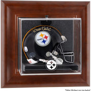 Pittsburgh Steelers Fanatics Authentic Brown Framed Wall-Mountable Mini Helmet Display Case