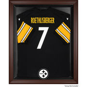 Pittsburgh Steelers Fanatics Authentic Brown Framed Logo Jersey Display Case
