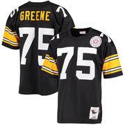 Joe Greene Pittsburgh Steelers Mitchell & Ness Authentic Throwback Jersey - Black