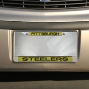 Pittsburgh Steelers Team Color Glitter Metal Frame - Gold