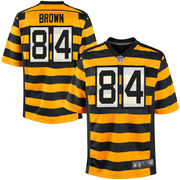 Nike Antonio Brown Pittsburgh Steelers Youth Throwback Game Jersey - Black/Gold