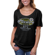 Pittsburgh Steelers Women's Missy Baby Jersey Tri-Blend T-Shirt - Black