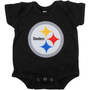 Pittsburgh Steelers Newborn Team Logo Bodysuit - Black