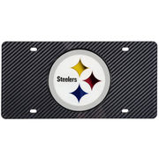 Pittsburgh Steelers Carbon Fiber License Plate