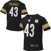 Nike Troy Polamalu #43 Pittsburgh Steelers Toddler Game Jersey - Black