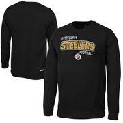 Pittsburgh Steelers Preschool Crew Sweatshirt - Black