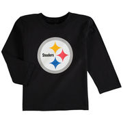 Pittsburgh Steelers Preschool Team Logo Long Sleeve T-Shirt - Black