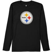 Pittsburgh Steelers Youth Team Logo Long Sleeve T-Shirt - Black