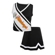 Pittsburgh Steelers Toddler Girls Team Spirit 2-Piece Cheerleader Set - Black/White