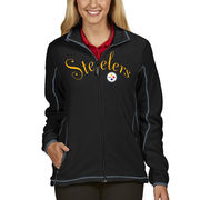 Pittsburgh Steelers Antigua Women's Ice Full Zip Jacket - Black