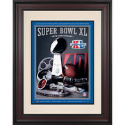 Fanatics Authentic 2006 Steelers vs. Seahawks Framed 10.5
