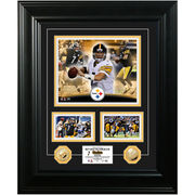 Pittsburgh Steelers Ben Roethlisberger 18'' x 22'' Marquee Gold Coin Photo Mint - Limited Edition of 500