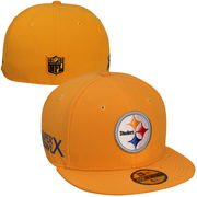 New Era Pittsburgh Steelers Super Bowl X Side Patcher 59FIFTY Fitted Hat - Gold