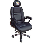 Pittsburgh Steelers Leather Office Chair - Black