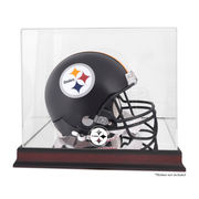 Pittsburgh Steelers Fanatics Authentic Mahogany Helmet Logo Display Case with Mirror Back