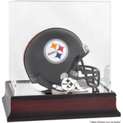 Pittsburgh Steelers Fanatics Authentic Mahogany Logo Mini Helmet Display Case