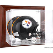 Pittsburgh Steelers Fanatics Authentic Brown Framed Wall-Mountable Logo Helmet Case
