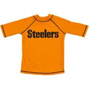 Pittsburgh Steelers Preschool Rash Guard - Gold