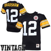 Terry Bradshaw Pittsburgh Steelers Mitchell & Ness Authentic Throwback Jersey - Black
