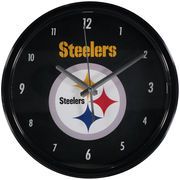 Pittsburgh Steelers Black Rim Basic Wall Clock