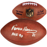 Franco Harris Pittsburgh Steelers Fanatics Authentic Autographed Wilson Pro Football with HOF 1990 Inscription