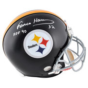 Franco Harris Pittsburgh Steelers Fanatics Authentic Autographed Riddell Pro-Line Authentic Helmet with HOF 90 Inscription