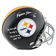 Franco Harris Pittsburgh Steelers Fanatics Authentic Autographed Riddell Pro-Line Authentic Helmet with Multiple Inscriptions