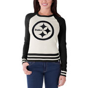 Pittsburgh Steelers '47 Brand Women's Passblock Sweater - Cream