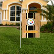 Pittsburgh Steelers Burlap Garden Flag