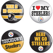 Pittsburgh Steelers WinCraft  4-Pack Button Set