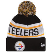 Pittsburgh Steelers New Era Biggest Fan Redux Knit Beanie - Black