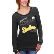 Pittsburgh Steelers Touch by Alyssa Milano Women's Blitz Burnout Thermal Long Sleeve Tri-Blend T-Shirt - Black