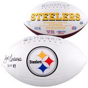 Joe Greene Pittsburgh Steelers Fanatics Authentic Autographed White Panel Football with HOF 87 Inscription