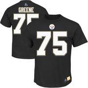 Joe Greene Pittsburgh Steelers Majestic Hall of Fame Eligible Receiver II Name & Number T-Shirt - Black
