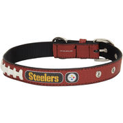 Pittsburgh Steelers Classic Leather Collar - Brown