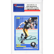 Rod Woodson Pittsburgh Steelers Fanatics Authentic Autographed 1989 Score #78 Rookie Card